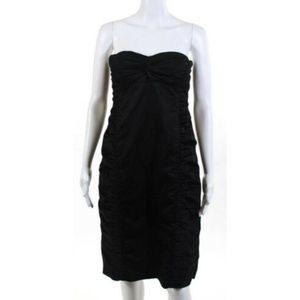 EUC Nanette Lepore Ruched Black Dress Size 8